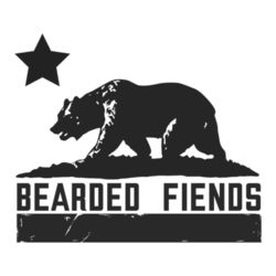 BF Bear Flag Ladies V-Neck T-Shirt Design