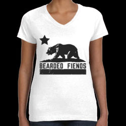 BF Bear Flag Ladies V-Neck T-Shirt Thumbnail